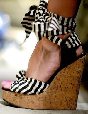 Roman Sandals Wedges High Heels Sexy Peep-Toe Platform Shoes