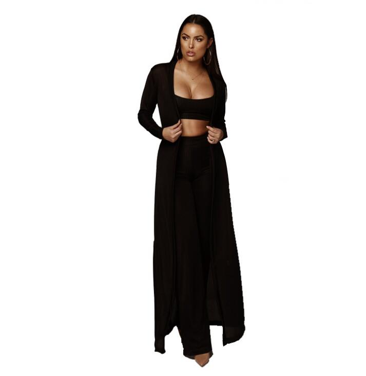 Two Piece Sexy Bodycon Pants Set Outfit
