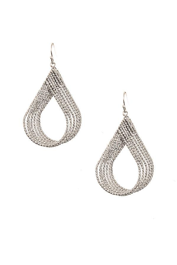 Multi Teardrop Link Dangle Earrings