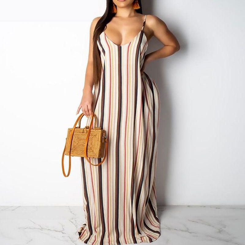 Tie Dye Boho Print Long Knitted Maxi Dress
