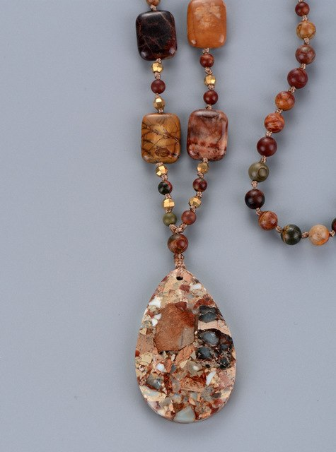 High End Picasso Stones with Teardrop Pendant