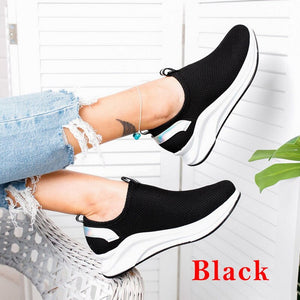 Women Sneakers Female Knitted Vulcanized