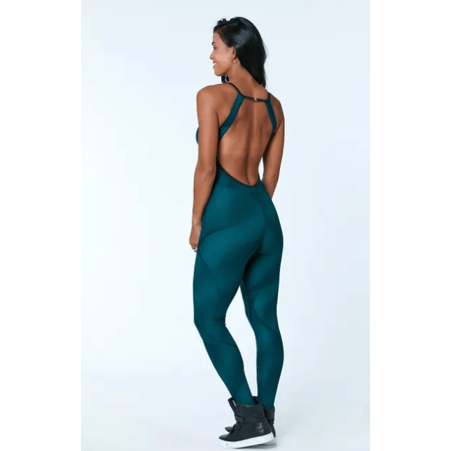 OPEN BACK WORKOUT JUMPSUIT- POLIANA