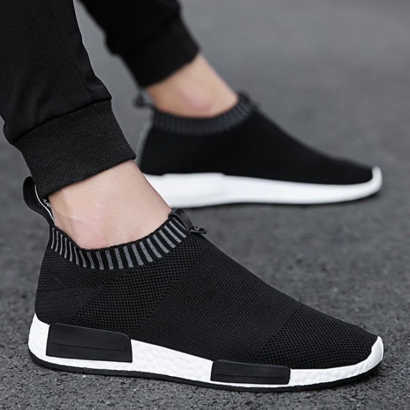 Sneakers Shoes Men Socks Stretch Fabric Male