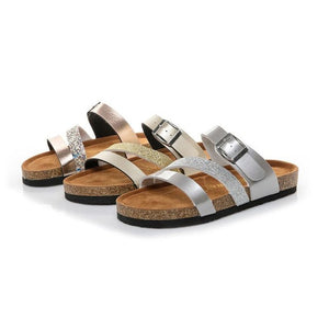 Summer Comfort Womens Shoes Cross Toe Strap Flat