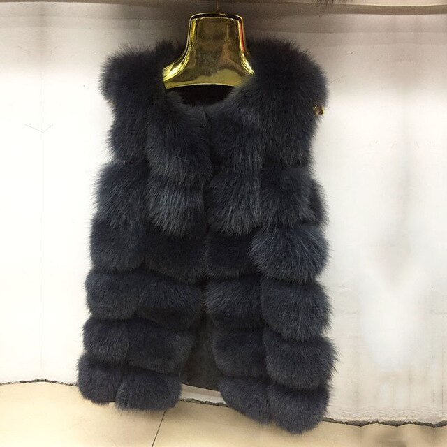 New Street Style Natural Real Fox Fur