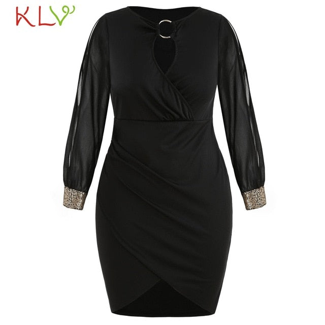 Sexy Sequin Ring Bodycon Formal Elegant Dress