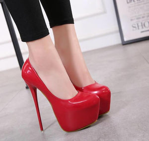 Ultra Sexy Shallow Waterproof High Heel Platform Shoes