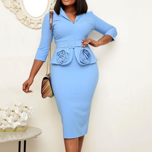 Retro A Line Elegant Midi Dress