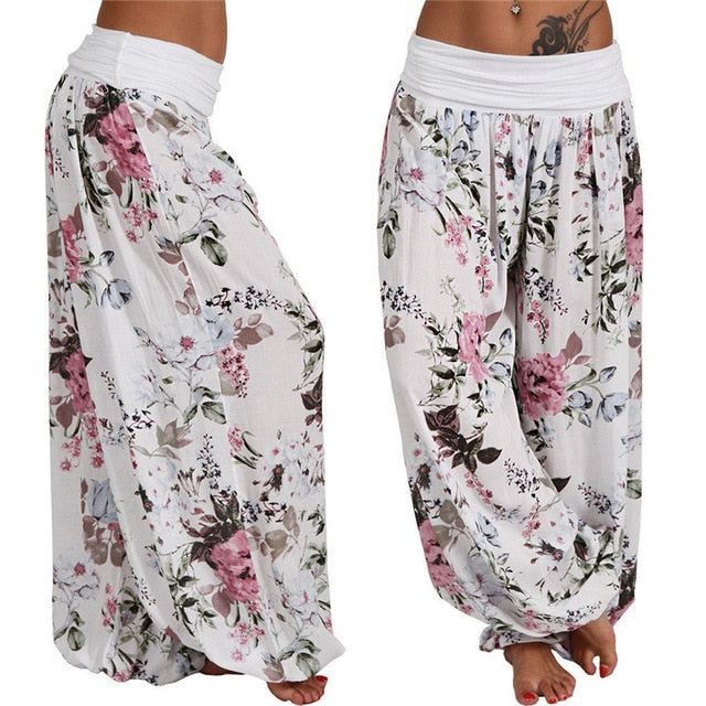 Long Harem Printed Loose Pants