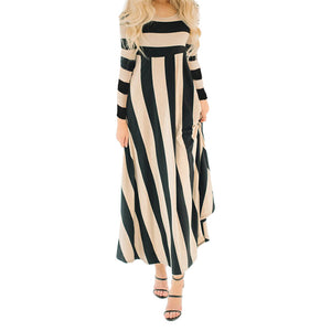Long Sleeve Striped Maxi Dress