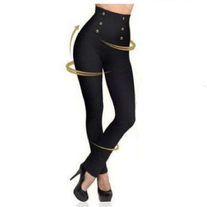Sexy High Waist Push Up Button Bottoms Pants