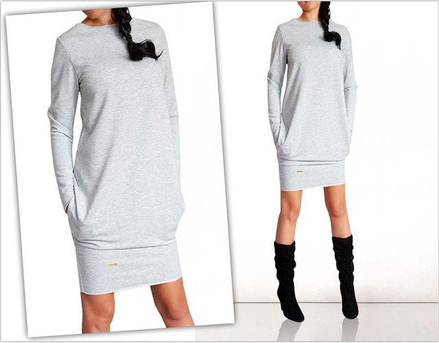 Long Sleeve Slim Casual, Party, Office Dress