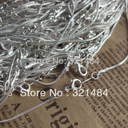 silver plated chain necklaces in bulk 16 inch 100piece snake link chains with lobster clasp