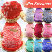 Fashion Pet Sweater Dog Autumn Winter Clothes Snowflake Warm Clothes for Cat Dog Round Neck Sweaters Pullover Pet Clothing
