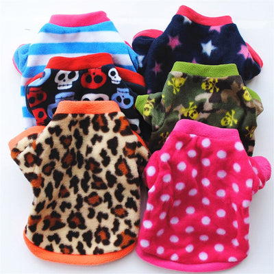 Winter Dog Pet  Leopard Dot  Shirt Costume Pullover Clothes Cute Christmas Small dachshund Cat Puppy Clothes For Dogs