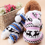 Hot New Fashion Pet Dog Cat Jacket Coat Puppy Clothes Winter Warm Sweater Pullover Hoodies Costume Christmas Apparel Gift