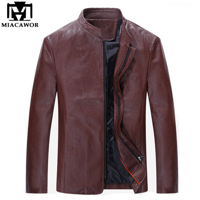 Plus Size 5XL New Fashion Men Faux Leather Jackets Men Coat Slim Fit Brand Red Suede Jackets Jaqueta de couro Masculina MJ329