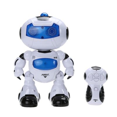 4 in 1 Solar RC Robot Toy Remote Control Musical Electronic Toy Walk Dance Lightenning Robot Christmas Birthday Gift Toy