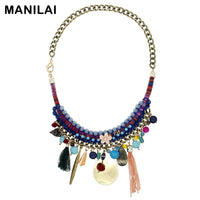 Fashion Hand Made Charm Pendant Choker Necklaces Women Wedding Accessories Statement Party Jewelry CE3591