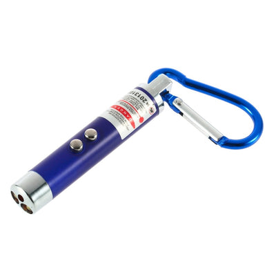LED Lazer 3 in 1 Mini Red Laser Pointer 2 LED Flashlight UV Torch With Keychain Wholesale NEW