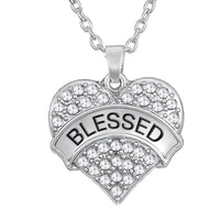 my shape blessed heart best wish necklaces hand made