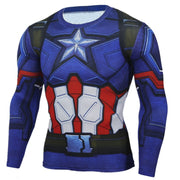 Captain America T Shirt Men 3D Iron man Printed Superhero T Shirts Fitness Compression Shirt Clothing Male Crossfit Tops