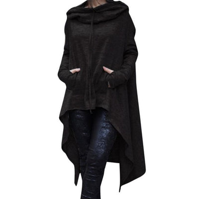 Women Casual Irregular Hood Sweatshirt Hooded Ladies Long Pullover Blouse Tops