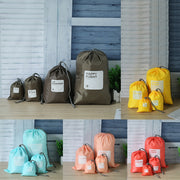 4Pcs/set Waterproof Travel Bag Shoe Bag Laundry Lingerie Pouch For Cosmetics Underwear Organizer Drawstring Storage Bag