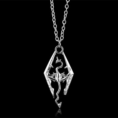 New Game Dragon The Elder Scrolls V Pendant Necklace Skyrim Choker Men Jewelry Necklace Chain -30
