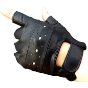 KUYOMENS Men Fingerless Gloves Women Half Finger Glove Unisex Adult Fingerless Mittens Real Genuine Leather