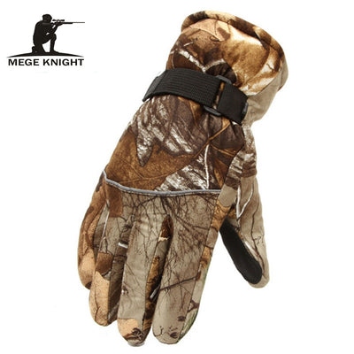 Warm Tactical Gloves Shark Skin Soft Shell Camouflage Gloves Waterproof Windproof Fleece Floves