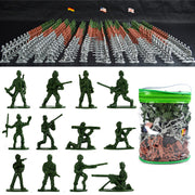 303PCS Military Plastic Soldiers Army Men Figures in 12 Poses 3 Flags Kids Toy