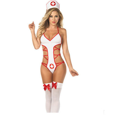 Naughty Nurse Nightie Women Sexy Lingerie for Cosplay Costume Party