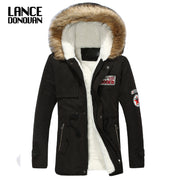 Cotton-padded jacket casual men's clothing outerwear  male overcoat wadded jacket & Parkas winter coat men warm