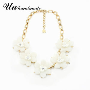 Statement Flower necklace Women vintage Boho Maxi Pendant Necklaces Choker Collar Jewelry Christmas Gift 2017 Colar Steampunk