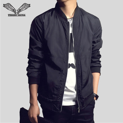 VISADA JAUNA Men's Jacket New Arrivals Autumn Fashion Long Sleeve Jackets Men Slim Fit Casual Jaqueta Masculina Jackets N1113