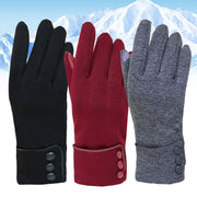 Winter Woman Gloves Outdoor Warmer Fleece Windproof Gloves Snow Wear Mintte Female Gloves for Touch Screens Ladies Glove Mittens