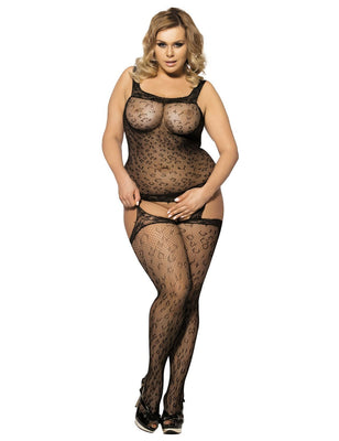 Women Open Crotch Sexy Fishnet Bodystocking Bodysuit Tights Lingerie