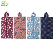 3Pcs Flower Print Organizer Travel Bag for Shoes Zipper Waterproof Women Storage Bags Foldable Toiletry Makeup Pouch