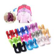 10Pcs/lot Multifunctional Flocking Mini Magic Hanging Hooks for Clothes Rack Hanger String Travel Clothing Organizer
