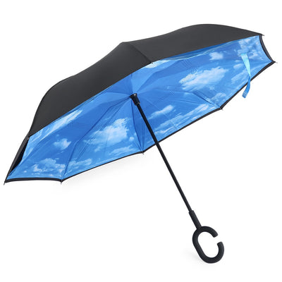 2018 High Quality Windproof Reverse Folding Double Layer Inverted Umbrella Self Stand Rain/Sun Women/Men Child Dropshipping