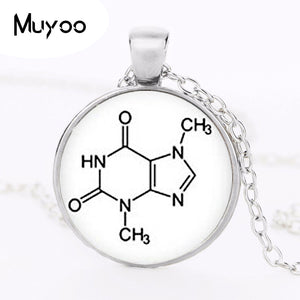 Biochemistry Logo Pendant Necklace 2017 Fashion Chemistry Picture Hand Made Vintage Style Pendant Jewelry Teacher Gift HZ1