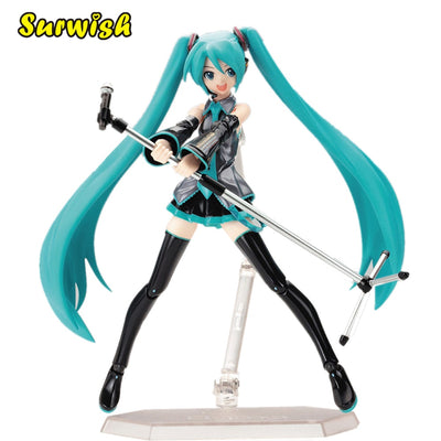 Surwish 15cm Movable Anime Action Figure Hatsune Miku Model Toy Doll Toy - Blue