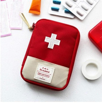 Red Medical Bag Emergency Accessory Survival Storage Drug Pills Treatment Outdoor Travel Hiking Rescue Organizer Kits First Aid
