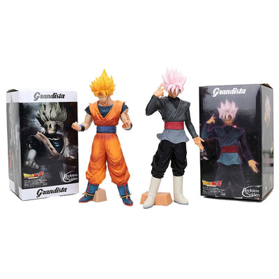 12'' 30cm Dragon Ball Z Grandista ROS Resolution of Soldiers Black Son Goku Gokou PVC Figure Collectible Model Toy