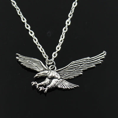hawk eagle Pendants round cross chain short long Mens Womens silver necklace Jewelry Gift