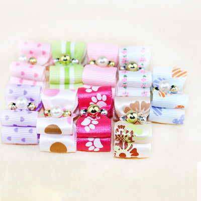 10 piece/set Pet Puppy Headdress Products Pets Fashion Hairpin Flower Hair Bows Dog Cat Grooming Accessories