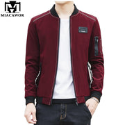 MIACAWOR 2018 New Brand Men Jacket Spring Autumn Bomber Jacket Fashion Casaco Masculino Casual Men Clothing Plus Size 5XL MJ410