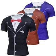 Funny T Shirt Men Luxury Tuxedo 3D Printed t shirts Crossfit Compression Shirt Plus Size Tops Tees Brand Clothing